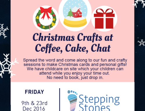 Come along to our Coffee Cake Chat mornings
